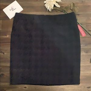 Merona Textured Black Pencil Skirt NWT Size 18